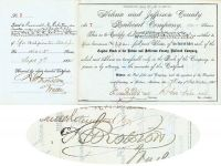 Helena And Jefferson County RR Co. Issued To And Signed By Rosewell G. Rollston As Trustee