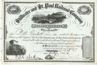 Stillwater And St. Paul Railroad Company Signed By Charles S. Mellen As President