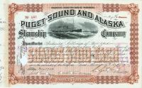 Puget Sound And Alaska Steamship Co. Issued To Frederick Billings