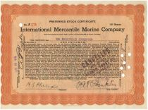 International Mercantile Marine Company - Philip Albright Small Franklin Autograph