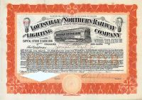 Louisville And Northern Railway And Lighting Company - Signed By Samuel Insull As President
