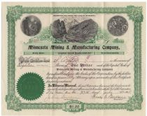 3M - Minnesota, Mining And Manufacturing Stock Signed By Two Founders