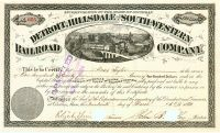 Detroit, Hillsdale & South-Western R.R. Co. - Issued To Moses Taylor