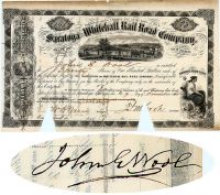 Saratoga & Whitehall RR Issued To And Signed By General John Wool