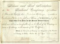 Helena And Red Mountain Railroad Company Issued To Frederick Billings