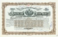 "State Of New York ""Loan For Canal Improvement"" - Issued To As Trustee Under Will Of Frederick W. Vanderbilt For William Seward Webb"