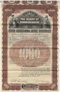 Board Of Commissioners For The Fifth Louisiana Leve District