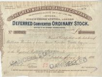 Great Northern Railway Deferred Converted Ordinary Stock