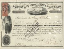 Boston And Providence Railroad Corporation, John Clifford Autograph