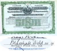 State Of New York Loan For The Extension And Improvement Of The Palisades Interstate Park Issued To And Signed By Marshall Field III
